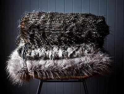 $148.50 HAUTEEDIT.COM - Luxury Faux Fur Throws - Guinea Clove. Instantly add a rich, textural element to your interiors and a welcome dose of luxe to your home with this gorgeous range of luxury faux fur throws from Hertex, impeccably created of the highest quality fabrics and yarns.
