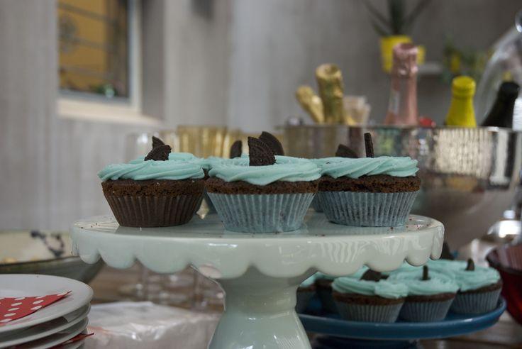 Shark cupcakes