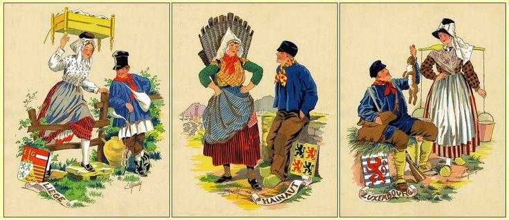Héraldie: Costumes traditionnels de Belgique