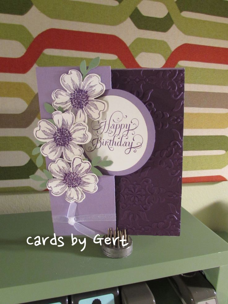 "Stampin Up Flower Shop with ""Beautiful"" Birthday Stamp"