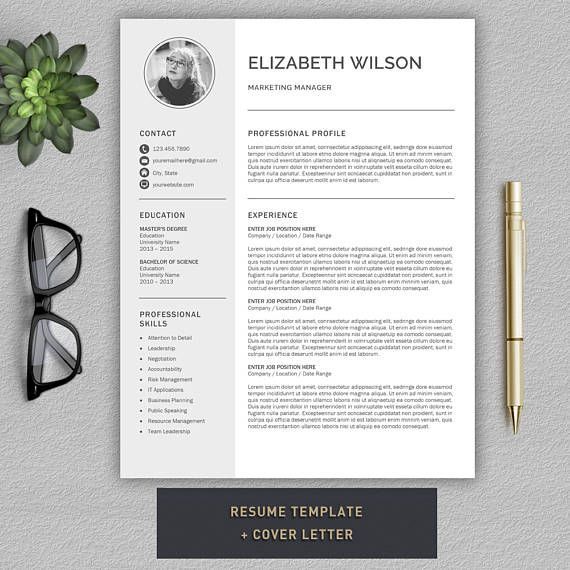 Lettre De Motivation Template: Resume Template / CV Template