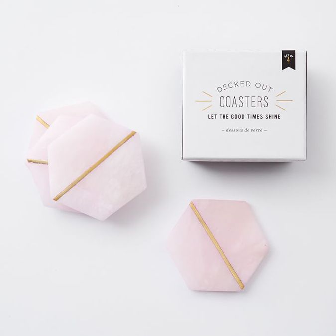 Shop the link for these pink marble coasters in Lauren's Friday Favorites