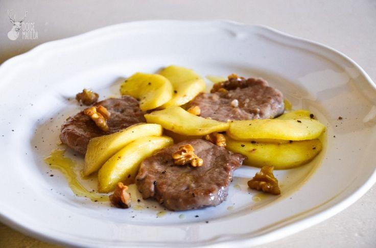 Filetto di maiale con mele e noci - Le ricette di Dolce Matilda