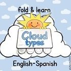 This is a science fold and learn craftivity that can be used in different grades.   I have also included the Spanish version: Tipos de nubes Page c...