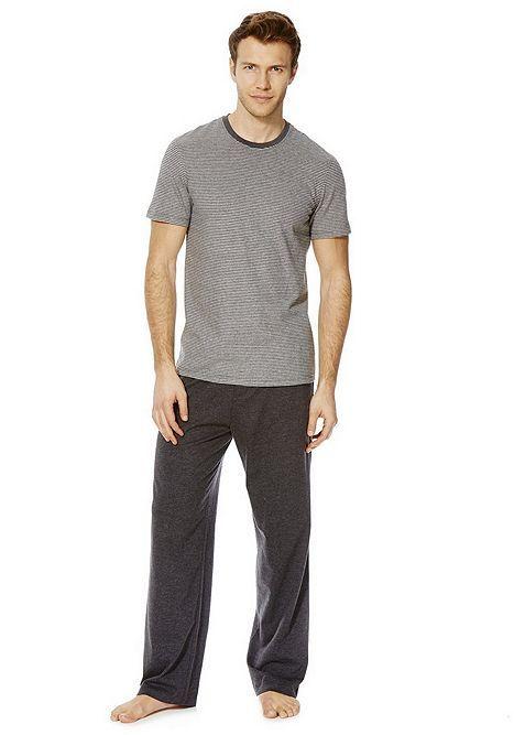 Tesco direct: F&F Striped Top Marl Loungewear Set