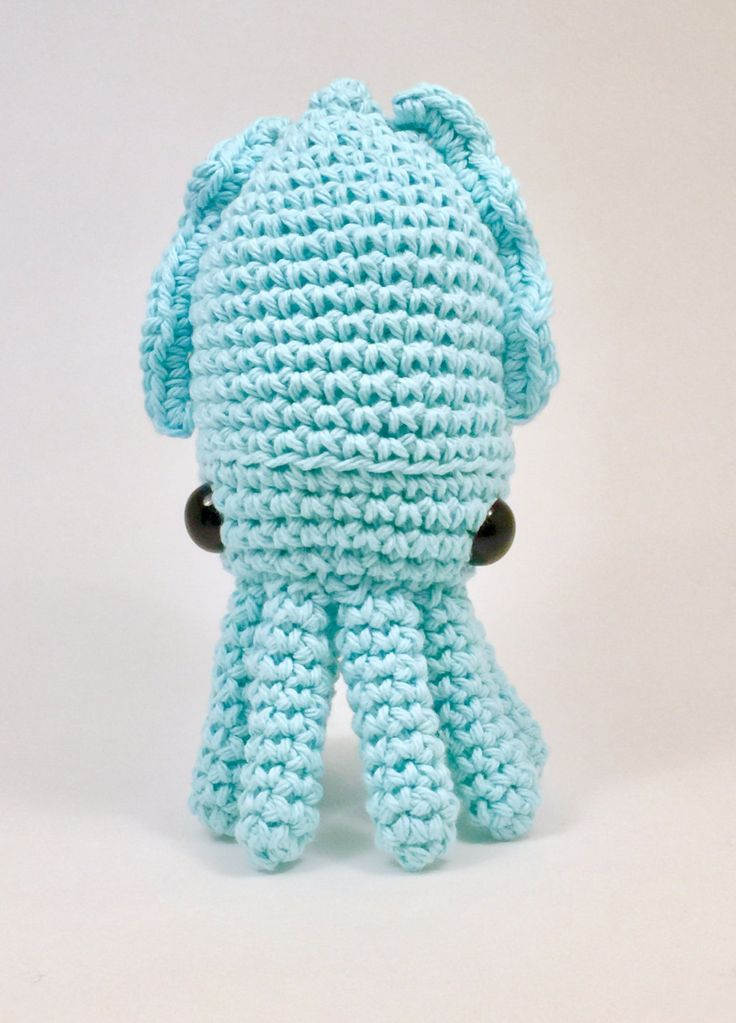 Crochet amigurumi cuttlefish pattern, toy, plushy by EmmandSkootch on Etsy