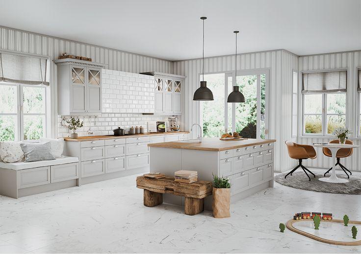 Fasett harmaa mansion - Epoq keittiöt