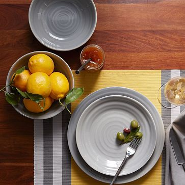 Crafted Dinnerware - Gray #westelm.$48 -4 plates/$40 - 4 oversized mugs