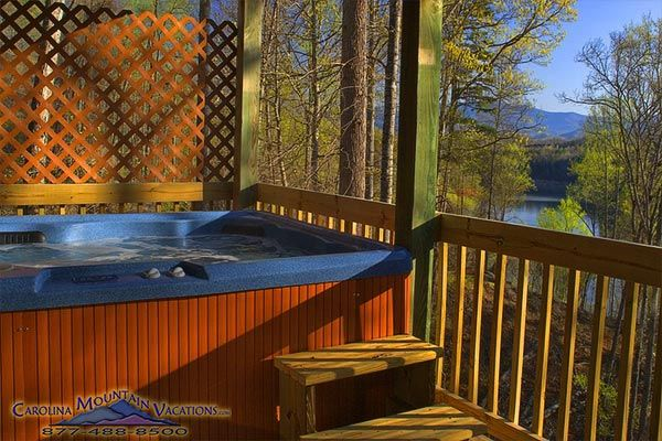 Eagles View cabin has view of fontana lake nc managed by carolina mountain vacations