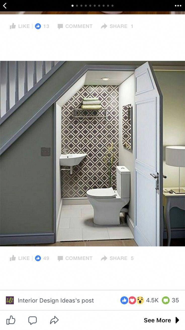 Understairs Toilet Decor