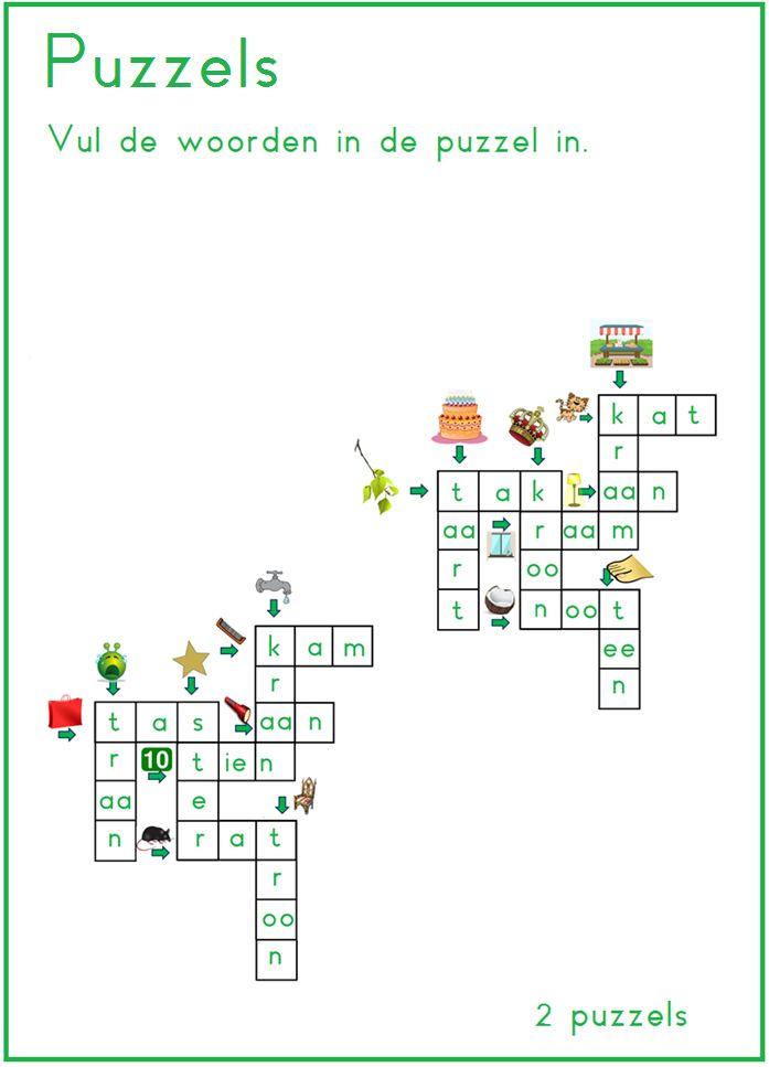 Puzzels, thema 2