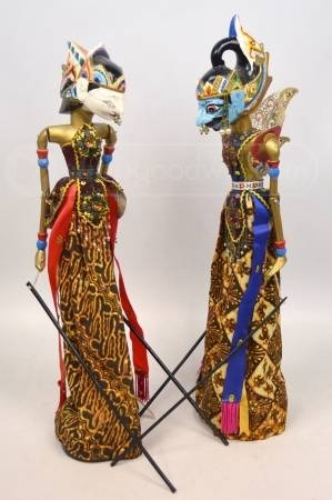 Balinese Indonesian Hand Puppet Marionettes