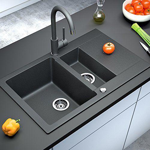 idee: küchenplatte und spüle in gleicher farbe  Spüle Granitspüle Küchenspüle Einbauspüle Auflage Doppels... https://www.amazon.de/dp/B00V7ZCC8A/ref=cm_sw_r_pi_dp_x_OWlFyb2HRQFAY