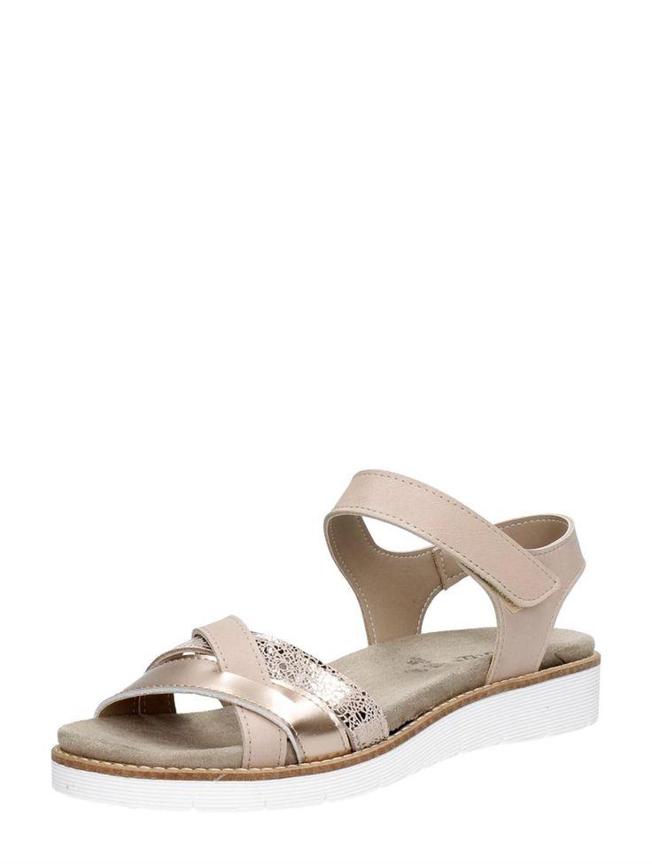 Choizz comfortabele dames sandalen van glad en nubuck leer - roze