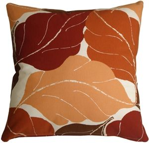 Autumn Leaves 20x20 Red Throw Pillow Pinterest Red