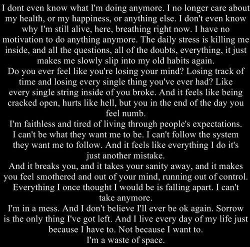 Long Sad Quotes About Life: Depressing Long Quotes Inspirational. QuotesGram