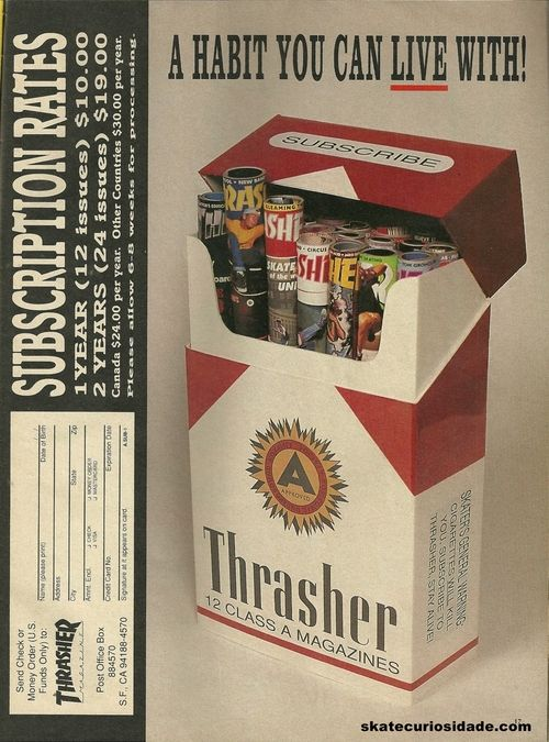 Thrasher Skate Magazine Ad, 1991