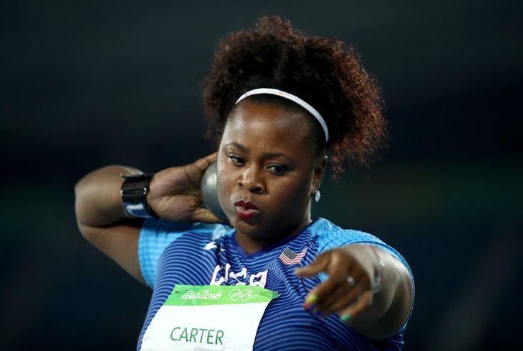 Michelle Carter gold medalist