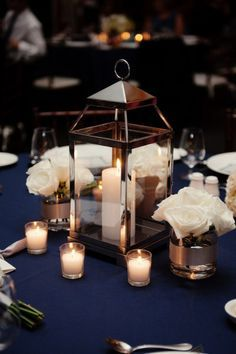 lantern and flower centerpieces - Google Search