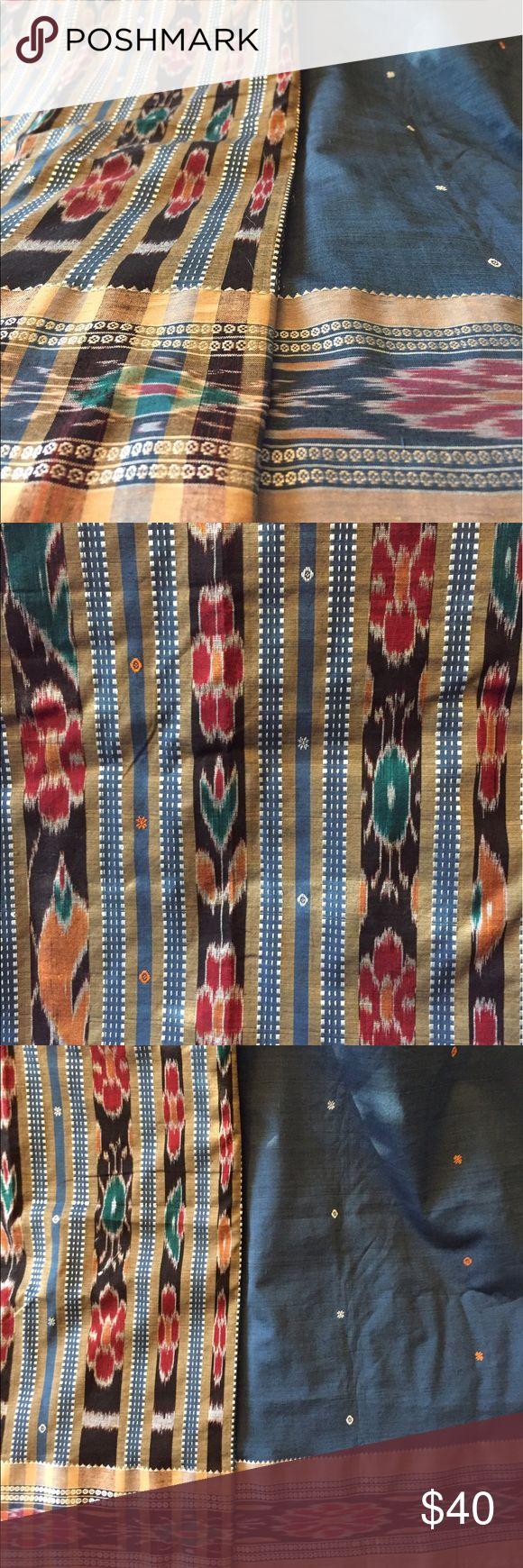 Indian Saree - Sari (Orissa) Brand New Orissan cotton Saree - blue and yellow. Other