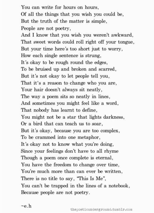this is the most beautiful poem i love it