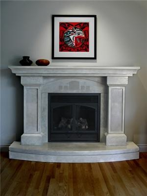 Concrete Fireplace Surrounds  Grotto Design  Canmore, AB