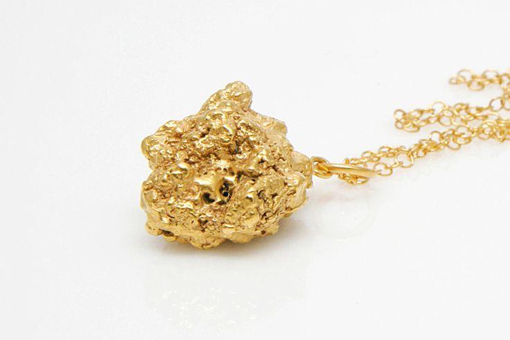 Mine – złoty naszyjnik w Fruit Bijoux na DaWanda.com