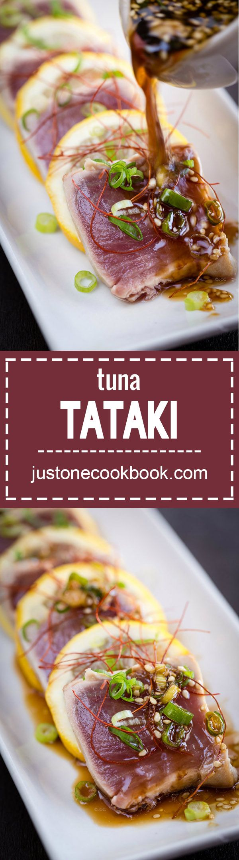 Tuna Tataki (キハダ鮪のたたき)   Easy Japanese Recipes at JustOneCookbook.com