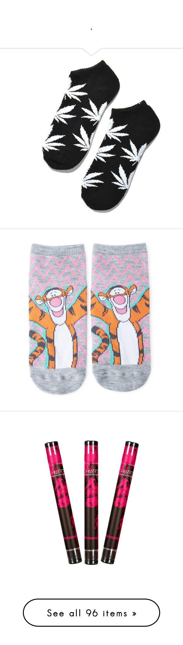 """."" by amyaxbradford ❤ liked on Polyvore featuring intimates, hosiery, socks, shoes, huf socks, huf, black and white socks, ankle socks, tennis socks and cartoon character socks"