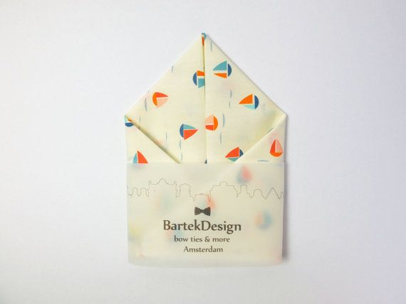 Pocket Handkerchief by BartekDesign: ivory sailboat by BartekDesign on Etsy
