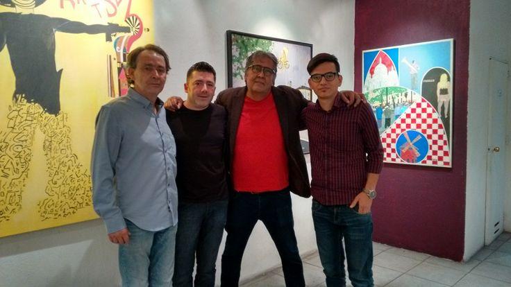 En Ajólote Galería, despidiendo al máster J Jaime Tafoya y saludando al master Diego Rodarte Planter y José Ramón Vázquez. #ScottNeri www.scottneri.com #arte #yoartista #ElArteDelImaginista #ScottNeriElArteDelImaginista #art #mexicanart