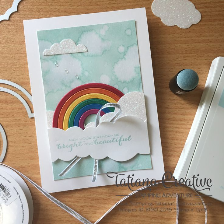 GDP120 entry.   Sunshine & Rainbows Bundle - 2018 Occasions Catalogue - Tatiana Creative Stamping Adventure