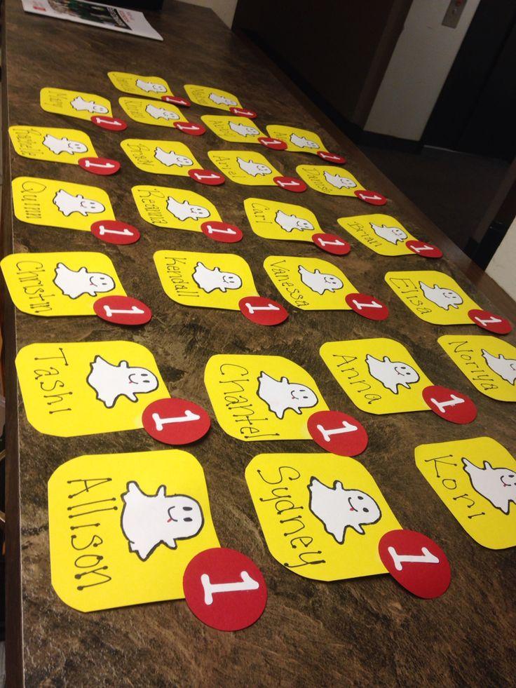 Snapchat Door Decs by Emily!  | 15-16 DD's by MSU Staff ...