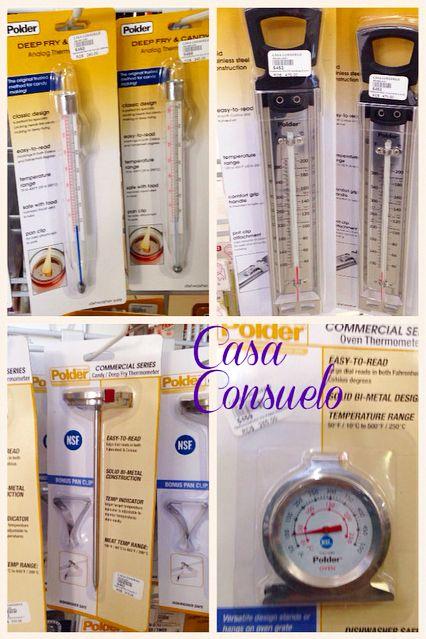 Ve a lo seguro!! Termometros para dulce y para horno El uso de termómetros garantiza siempre un mejor resultado