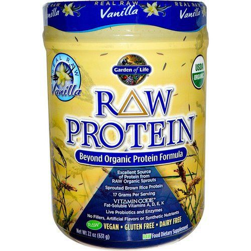 Garden of Life Raw Protein Vanilla- love this protein! 100% all natural