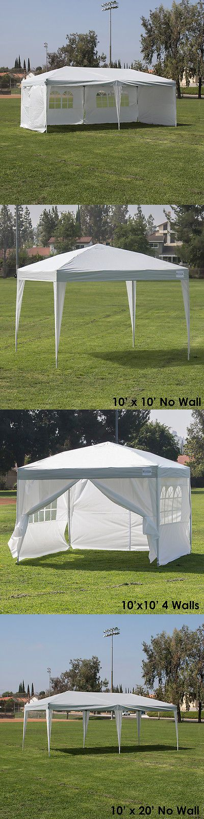 Awnings and Canopies 180992: 10X10 10X20 Easy Pop Up Wedding Party Tent Fold Gazebo Camp Canopy W Side +Bag -> BUY IT NOW ONLY: $159.99 on eBay!