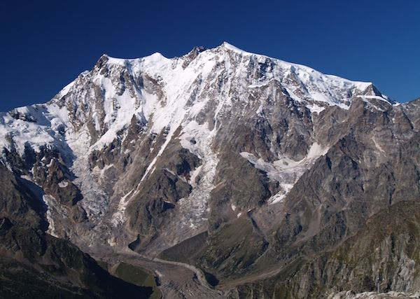 At the feet of the Alps' tallest face