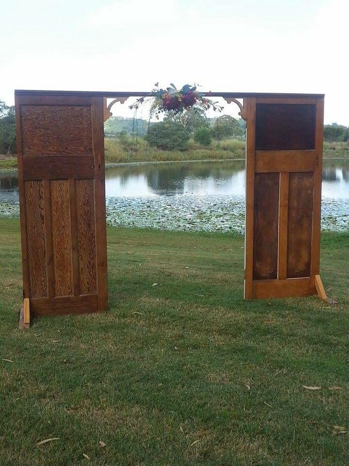 Country, rustic or vintage wedding backdrop , Freestanding wedding arbour doors,  Floral,wedding arbour,  Freestanding backdrop. See more in our country wedding board