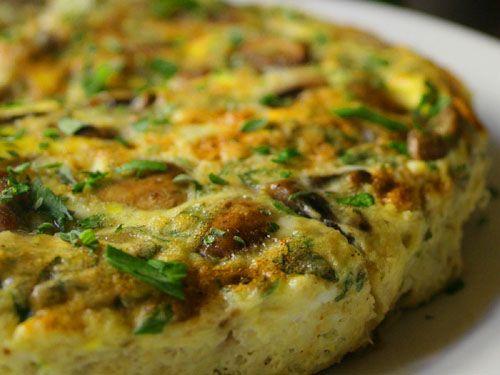Scrumptious #Mushroom and #Asparagus #Frittata.  Click for Recipe