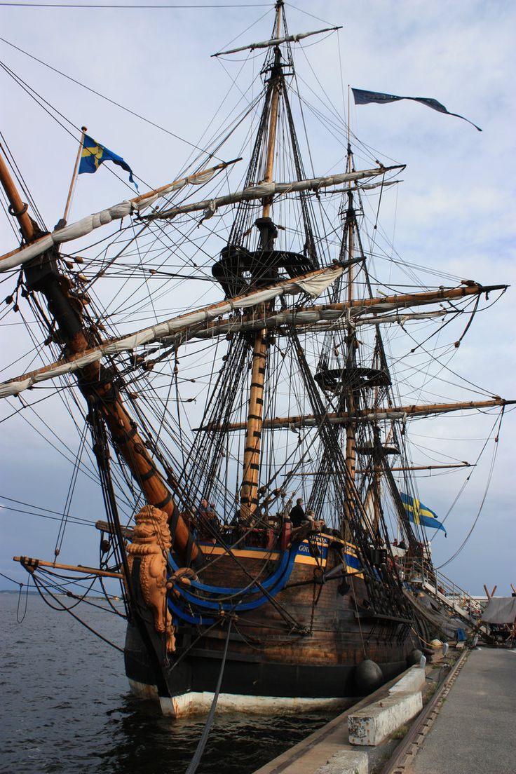 "Swedish tall ship ""Götheborg"" . Crew here for a week"