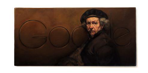 """Doodle Google Rembrandt van Rijn: Big G celebra il """"profeta della civiltà"""""""