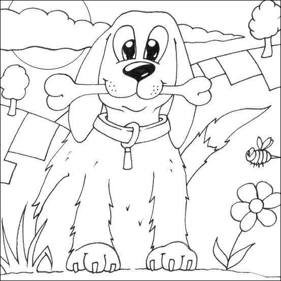 Dog Coloring Pages 3