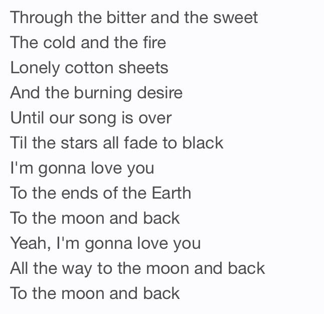 Luke Bryan, to the moon and back