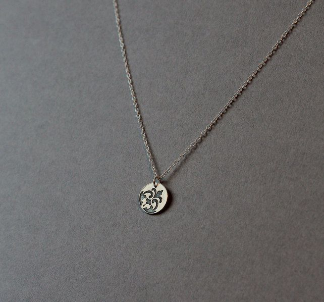 Etched Fragment necklace £20.00