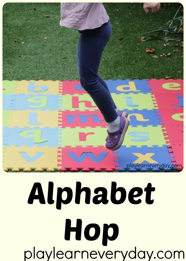 A fun and simple activity to get little ones moving whilst they identify the letters of the alphabet.