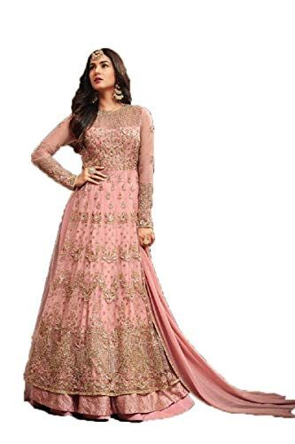 61e94926b35 CATALOG NO   393 BASE COLOUR   Light Pink TOP FABRIC   Vaishnavi Net with  Embroideried and Diamond Work SLEEVE FABRIC   Net with Embroideried and  Diamond ...