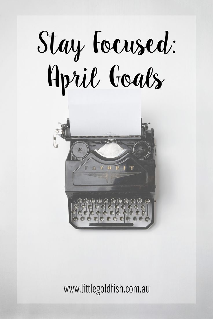 Accountability really keeps me focused. Help me stay on track with my April goals? | Little Goldfish Invitations and Stationery