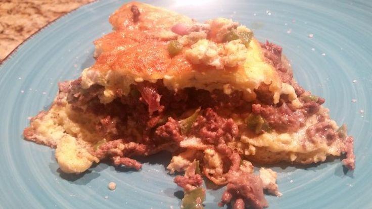Blue Cheeseburger Omelette