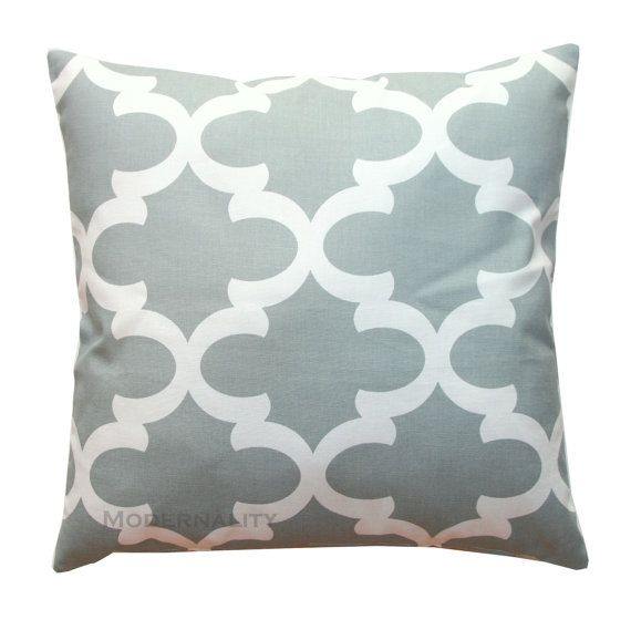 Toss Pillows- Cool Grey Fynn Pillow Cover- All Sizes- Hidden Zipper Closure- Cushion Cover ...