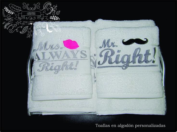 Toallas de algodón bordadas personalizadas